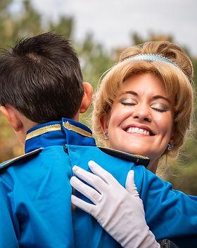 CInderella and Prince Charming Hug - Colorado Kids Photography