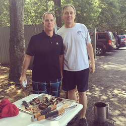 Bill and Bruce-Grilling