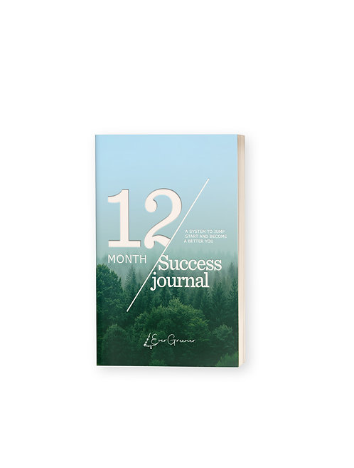12 Month Goal Journal
