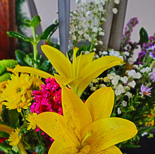 wildflowers and Yellow Lily's