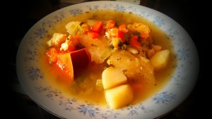 Spanish Chicken Vegetable Soup