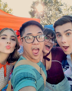 Another great day on set w _haley_pullos _ardenrose _jeremyshada, living and loving the dream, thank