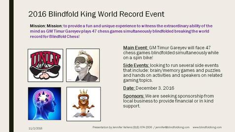 2016 Las Vegas Blindfold Chess Festival