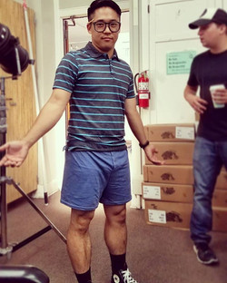 As promised, here's my pantsless shot from on set of #MrStudentBodyPresident #season2