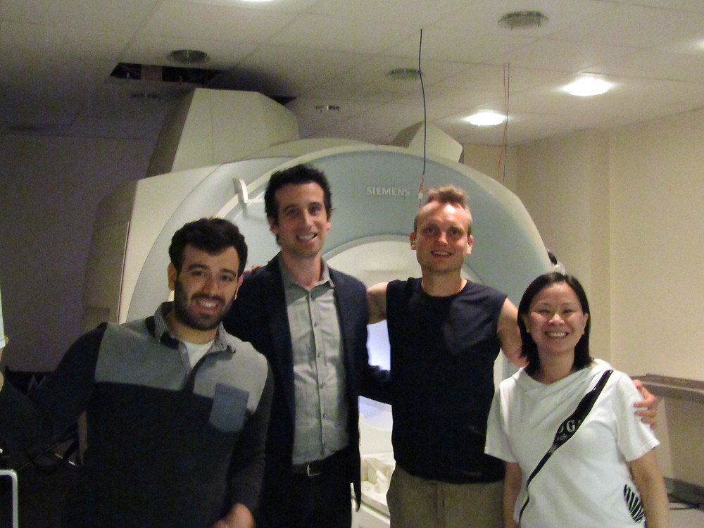 Here Timur is seen with Nicco Rggente, Dr. Jesse Rissman and Joey Essoe