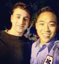 #JustinHurwitz & i after i shot on #curbyourenthusiasm season 9-- teaser out now! very excited, bles