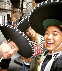 We have fun here on _2brokegirlscbs! #mariachi style, amigo! New show_ #2gringosandachino
