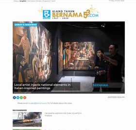 BERNAMA - Local artist injects national