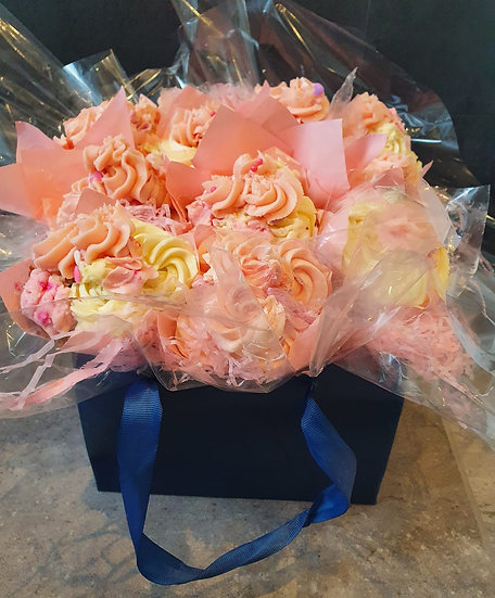 Bouquet of 12 Cupcake Flowers