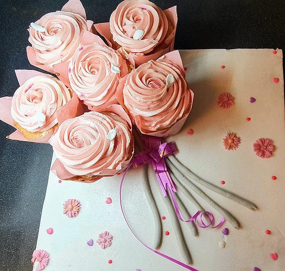 Bunch of Cupcake Flowers