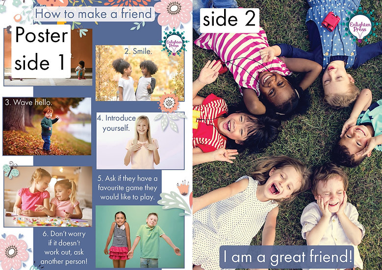 HOW TO MAKE A FRIEND POSTER