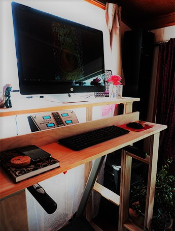 Yes, that is a treadmill desk!