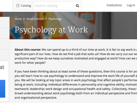 """Great Reviews for """"Psychology at Work"""""""