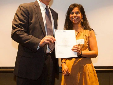 Centre PhD student wins Raine Study prize!