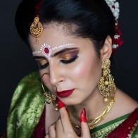 bengali Time Machine Academy bridal student's makeup work