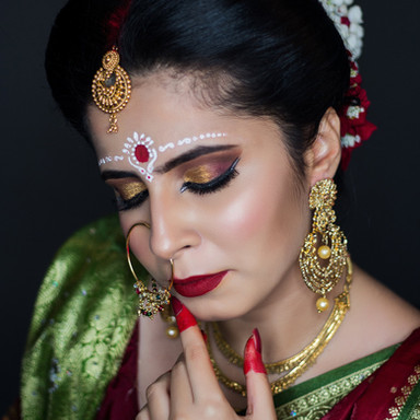 bengali Time Machine Academy bridal student's makeup work