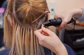 Time Machine salon hair extension services