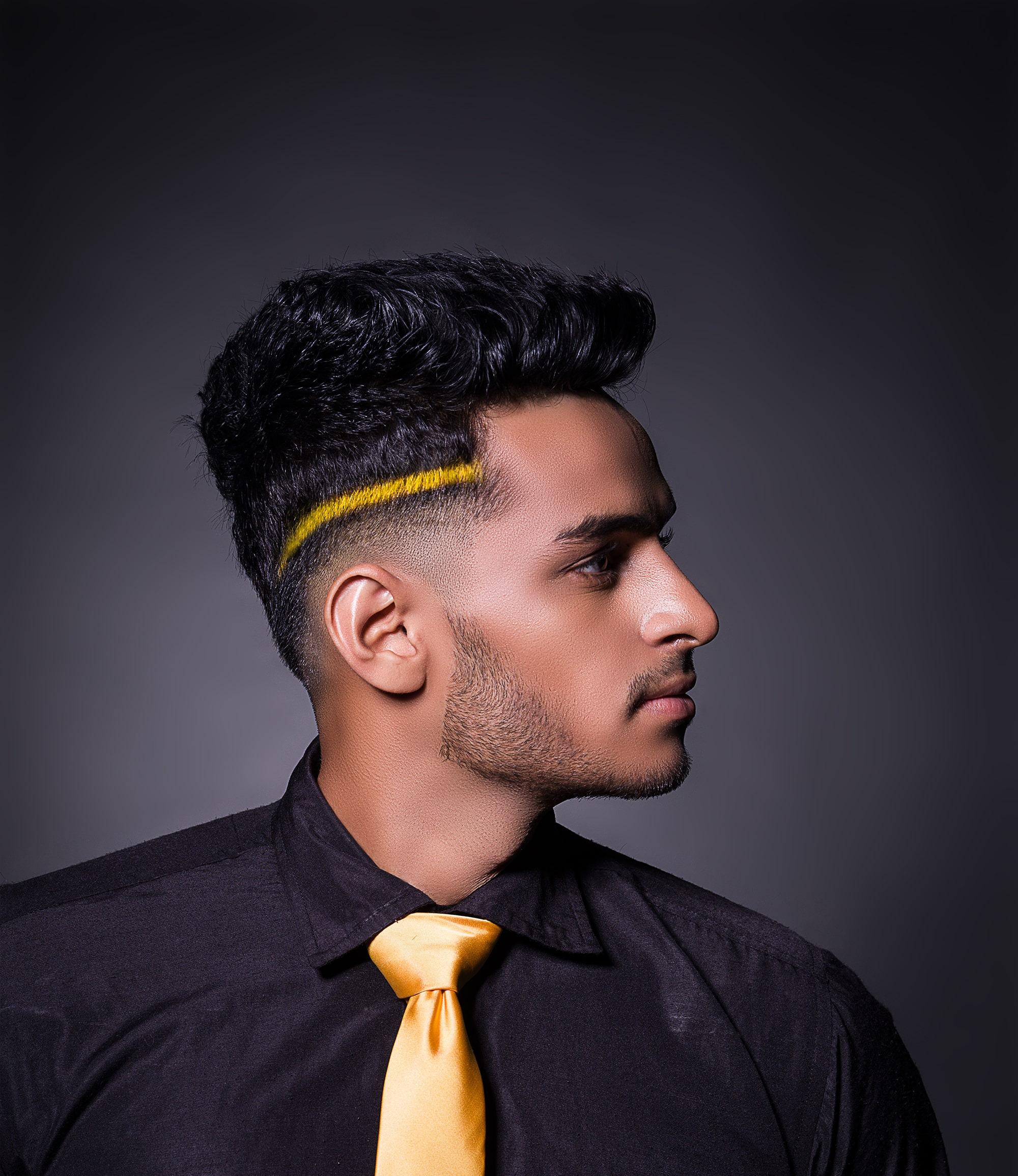 funky mens hair colour