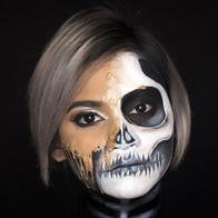 Time machine Halloween Makeup