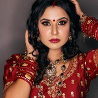 Time Machine Academy student's work north indian bride