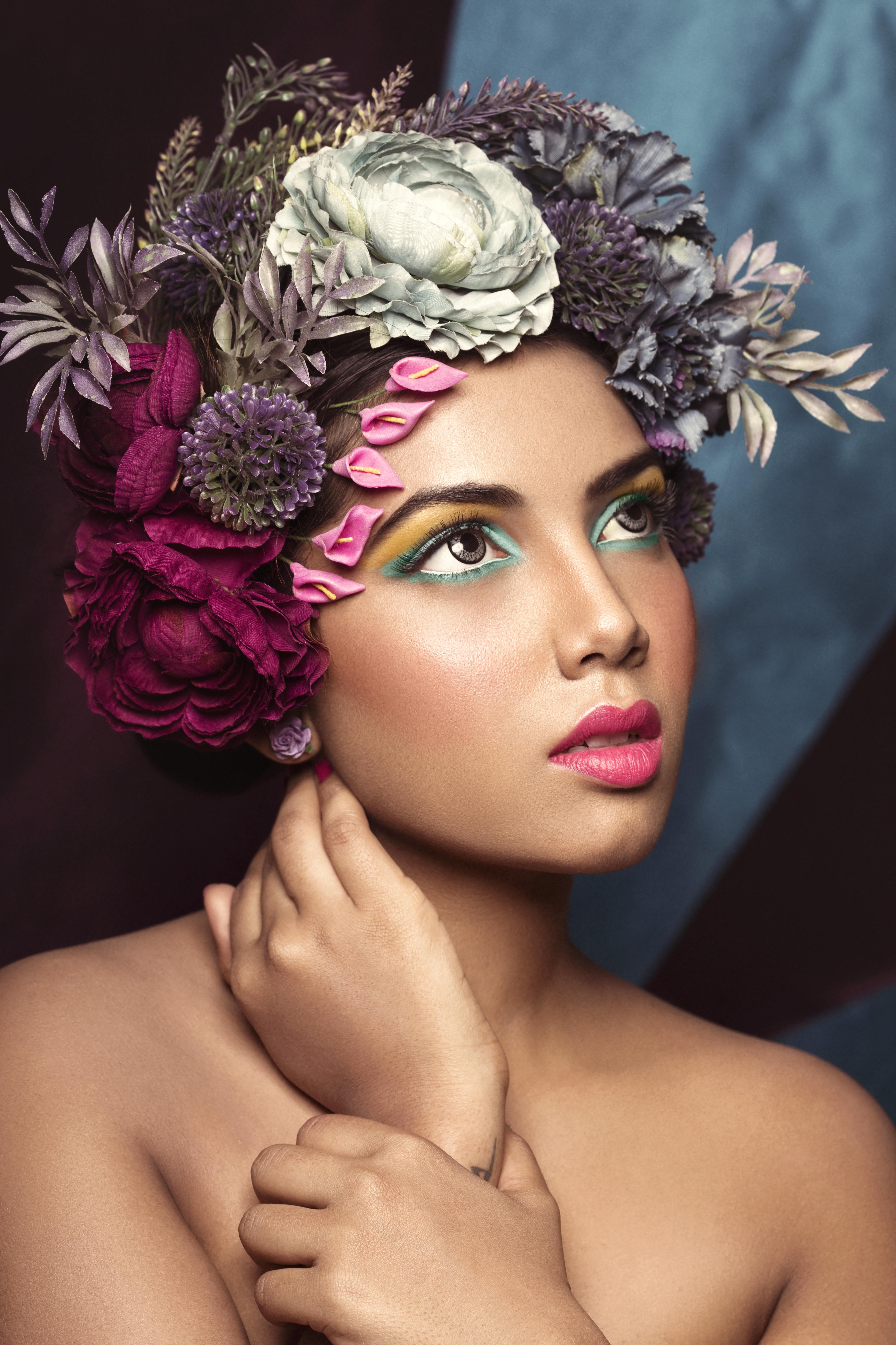 Creative Floral makeup