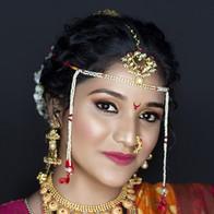 Time Machine maharashtran bride student's makeup work