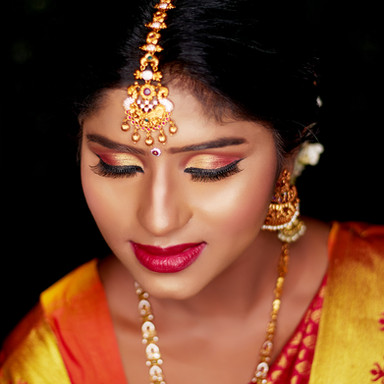Time Machine Academy students work south indian bride