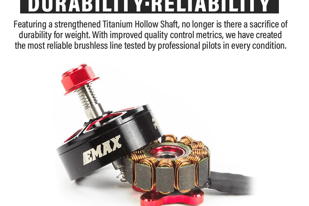 EMAX RSII 2306 Race Spec 1900kv - Brushless Motor (4-6S)   fiebrefpv