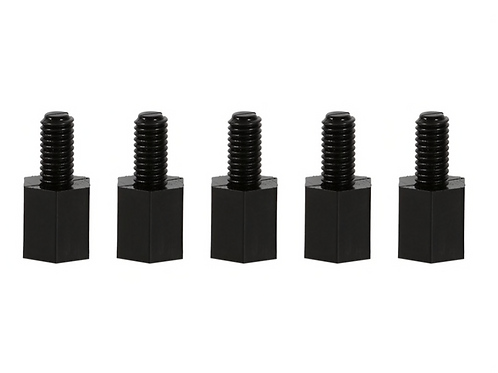 100 unids / lote plástico negro Nylon M3 columna hexagonal Standoff tornillo esp