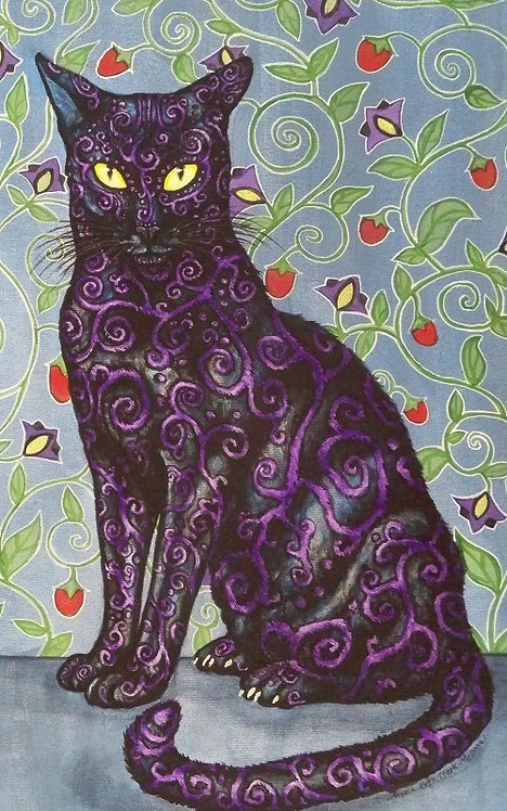 """Nightshade"" Greeting Card"