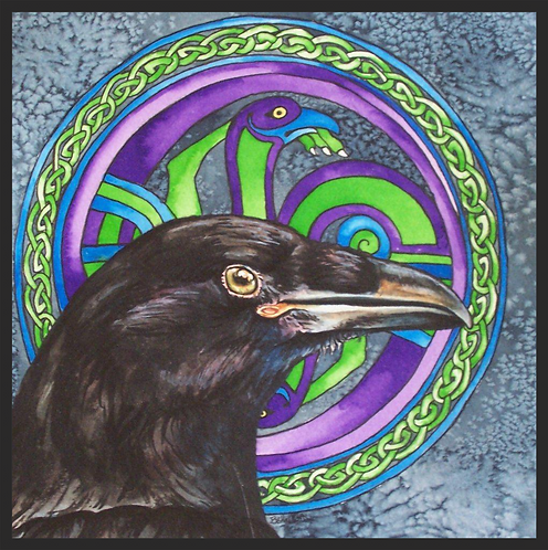 """Celtic Raven"" Greeting Card"
