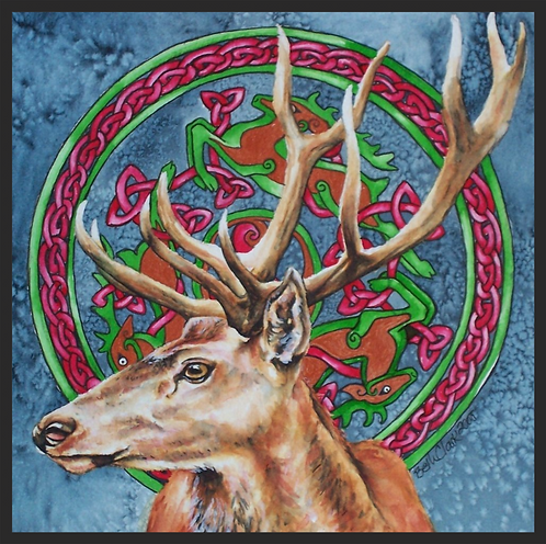 """Celtic Stag"" Greeting Card"
