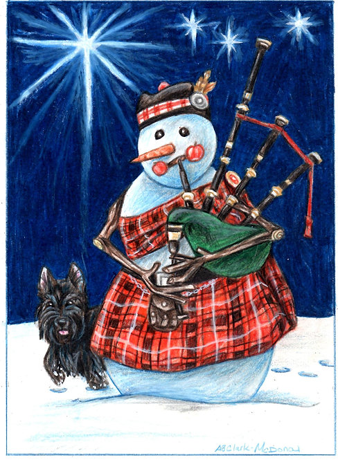 """MacFrosty"" Greeting Card"