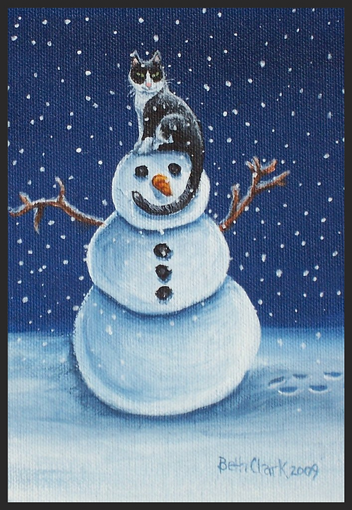 """Snow Stormie"" Greeting Card"