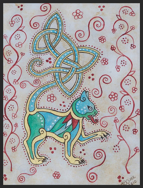 """Celtic Cattus"" Print"