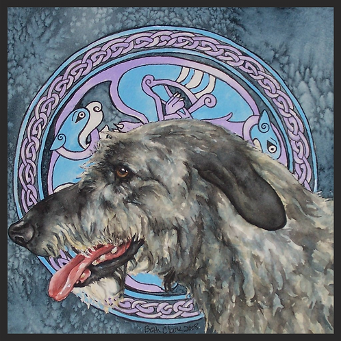 """Celtic Hound"" Greeting Card"