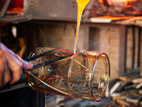 Traditional glassblowing in Majorca