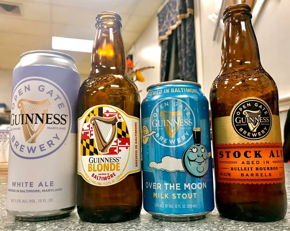 A Sampling of Beer during a visit from Guiness