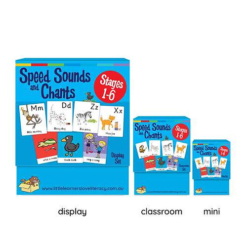 Speed Sounds and Chants Cards Stage 1-6 Pack