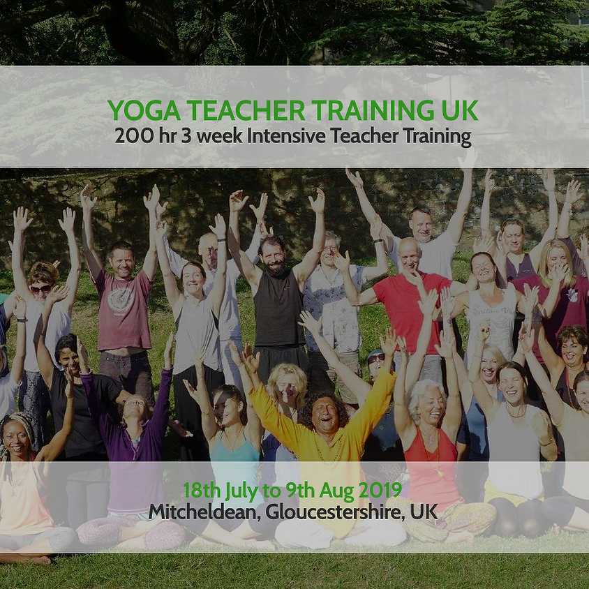 YOGA TEACHER TRAINING - 3 WEEK INTENSIVE
