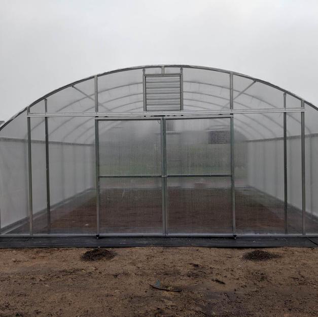 20' Quenset Greenhouse w/ Polycarbonate Endwalls