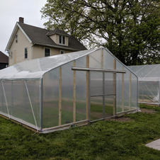 20' Gothic w/ Plastic Endwall Covering