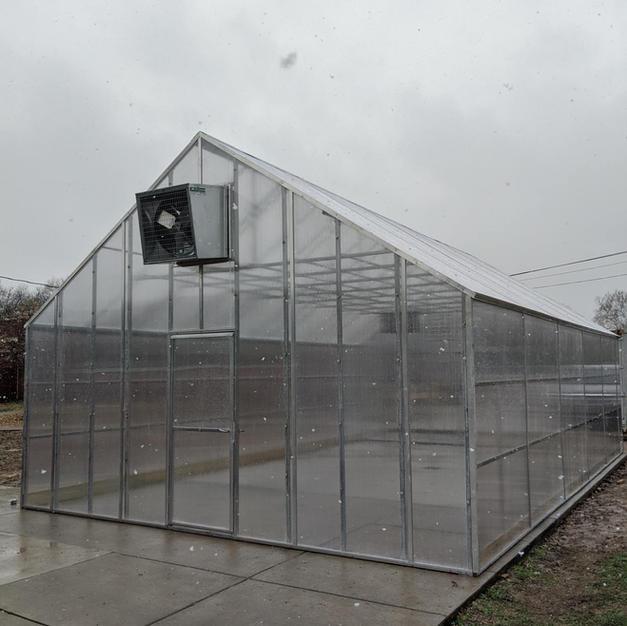 Custom 20' Gothic Polycarbonate Greenhouse