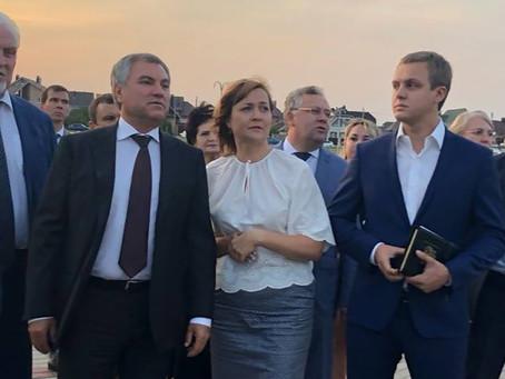 Спикеру Госдумы Вячеславу Володину показали Олимпийский парк на севере Тамбова
