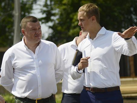 Губернатор Александр Никитин и врио мэра Максим Косенков посетили наши строительные площадки.