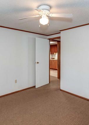bedroom and closet