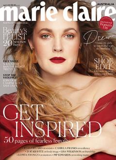 Drew Barrymore Marie Claire Australia Cover