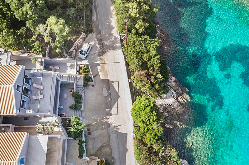 Arial view onto House
