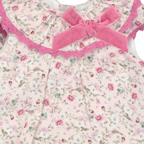 Floral Velvet Bow Jesusito