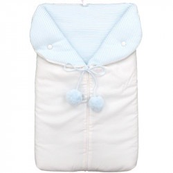 Baby Blue Pompon Sleep Sack